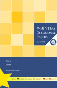 WBINTEG Occasional Papers